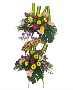 Congratulation Floral Stand