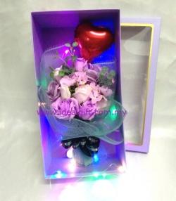 Purple Fragrance Soap Rose